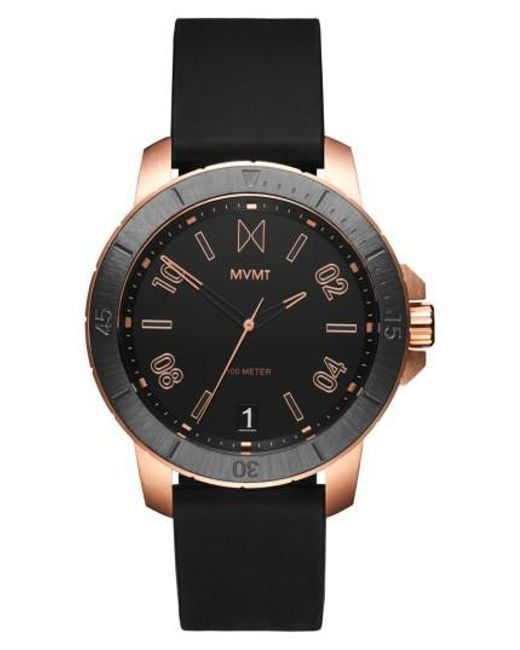 MVMT | Black Modern Sport Silicone Strap Watch for Men | Lyst
