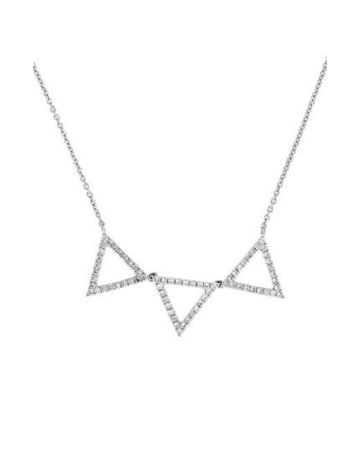 Bony Levy | White Three Triangle Diamond Pendant Necklace (nordstrom Exclusive) | Lyst