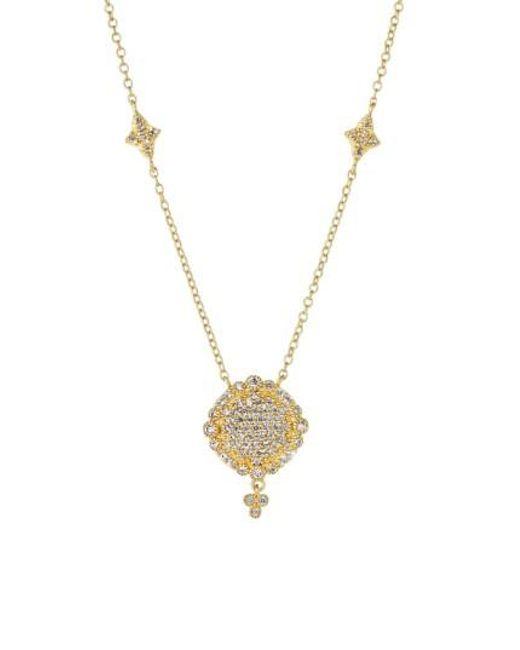 Freida Rothman | Metallic 'mercer' Pave Pendant Necklace | Lyst