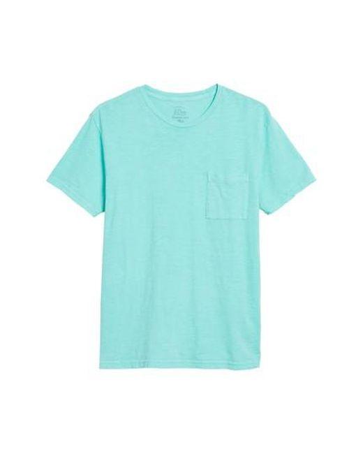 J.Crew - Blue J.crew Slim Fit Garment Dyed T-shirt for Men - Lyst