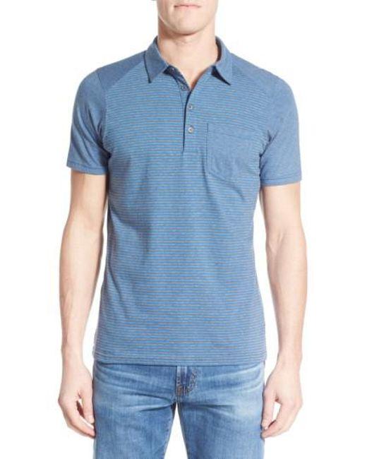 Nau | Blue Genus Stripe Jersey Pocket Polo for Men | Lyst