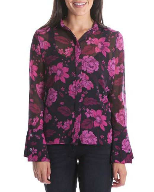 Kut From The Kloth - Multicolor Odelline Bell Sleeve Top - Lyst
