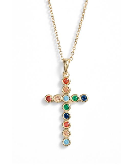 Argento Vivo - Metallic Rainbow Cross Pendant Necklace - Lyst