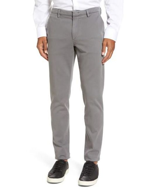 BOSS - Gray Kaito Stretch Chino Pants for Men - Lyst