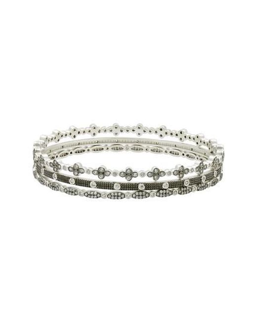 Freida Rothman | Metallic Set Of 3 Stacking Bracelets | Lyst