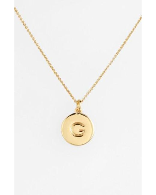 Kate Spade - Metallic 'one In A Million' Initial Pendant Necklace - Lyst