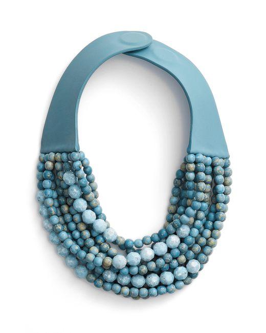 Fairchild Baldwin - Blue Farichild Baldwin Marcella Beaded Collar Necklace - Lyst