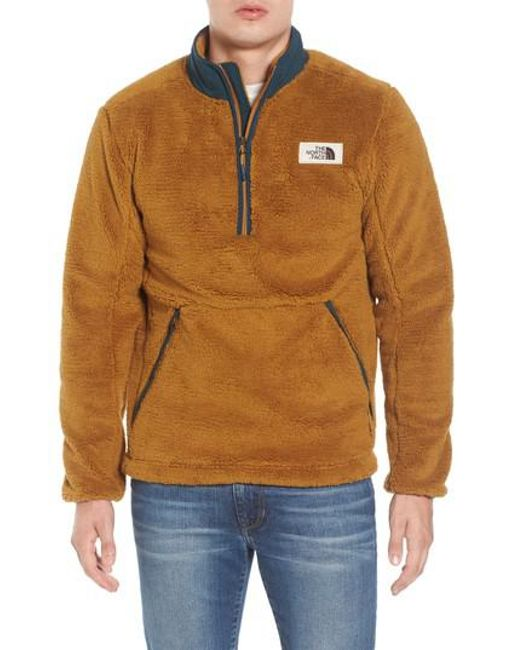 Lyst - The north face Campshire Pullover Fleece Jacket in Brown ...