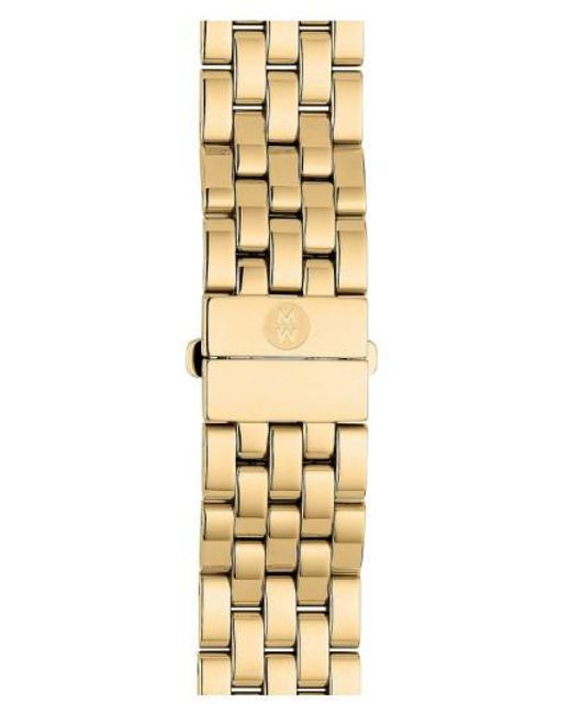 Michele - Metallic Urban Mini 16mm Gold Plated Bracelet Watchband - Lyst