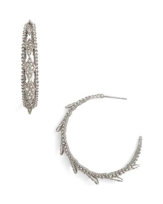 Alexis Bittar | Metallic Crystal Encrusted Hook Earrings | Lyst