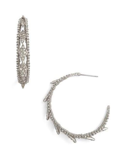 Alexis Bittar - Metallic Crystal Encrusted Hook Earrings - Lyst