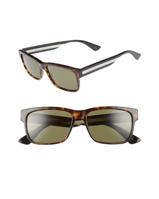 143376111a6 Gucci - Black Sylvie 58mm Sunglasses for Men - Lyst ...
