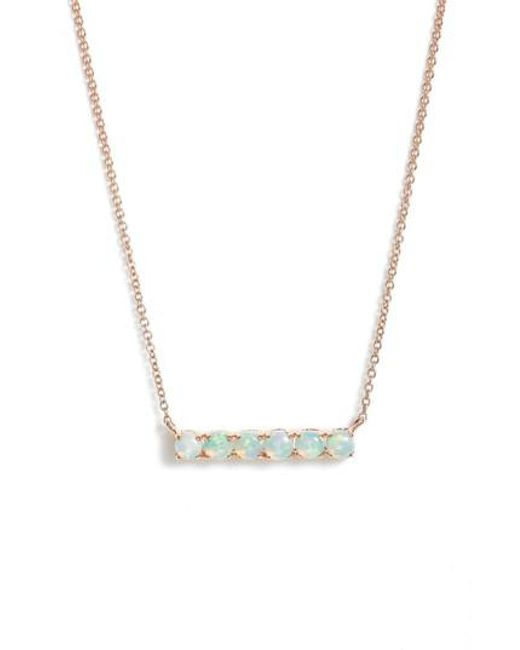 Dana Rebecca | Metallic Bar Pendant Necklace | Lyst