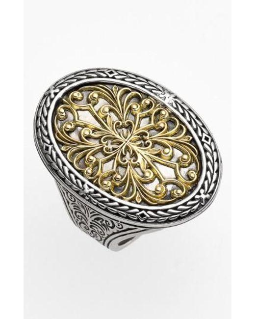 Konstantino | Metallic Oval Two-tone Ring | Lyst