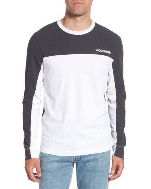 James Perse - White Colorblock Motocross Shirt for Men - Lyst