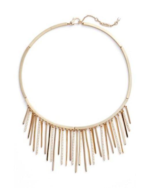 Jenny Packham | Metallic Fringe Frontal Necklace | Lyst