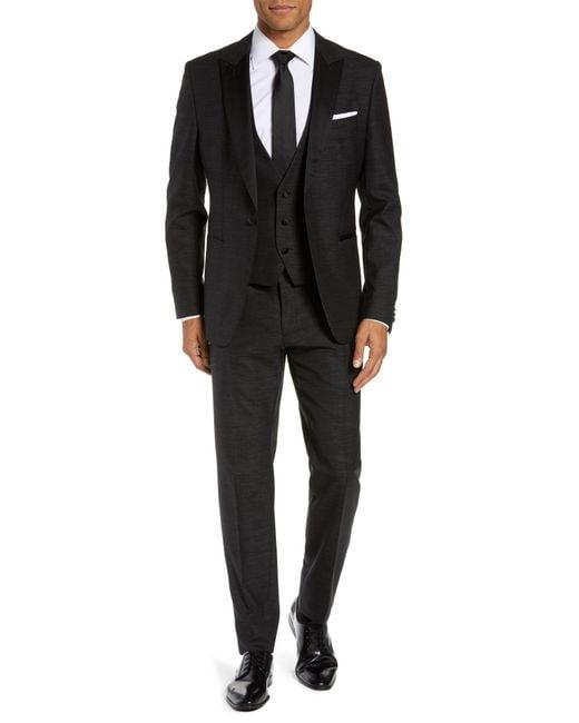 BOSS - Black Rendal/wilden Slim Fit Three-piece Tuxedo for Men - Lyst