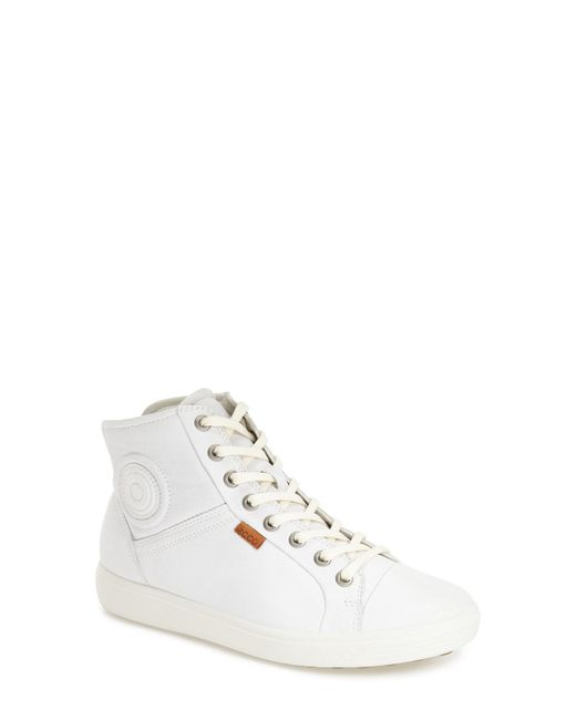 Ecco - White 'soft 7' High Top Sneaker - Lyst