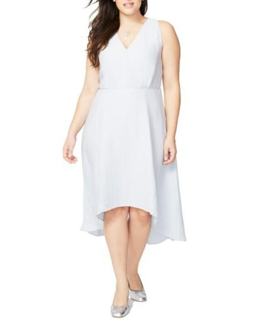 RACHEL Rachel Roy | Blue Flutter Drape Dress | Lyst