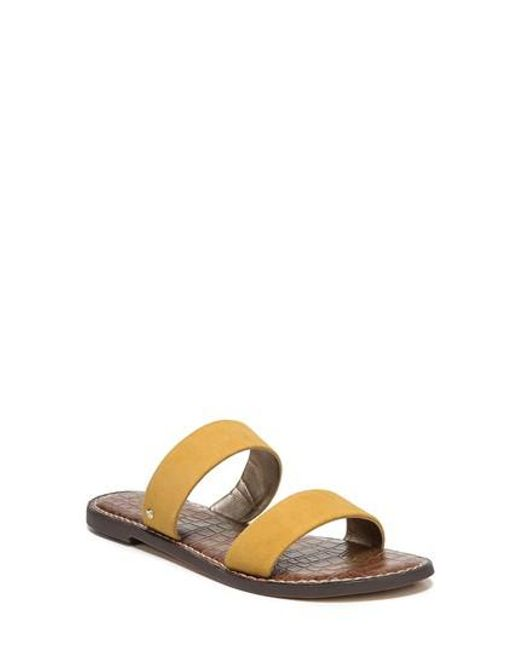 3f2298fe8a17 Lyst - Sam Edelman Gala Two Strap Slide Sandal in Yellow