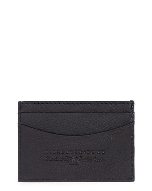 Barbour - Blue Leather Card Case for Men - Lyst