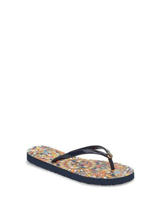 Tory Burch - Blue Thin Flip Flop - Lyst