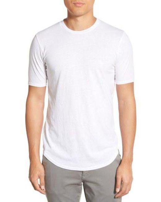 Goodlife - White Scallop Triblend Crewneck T-shirt for Men - Lyst