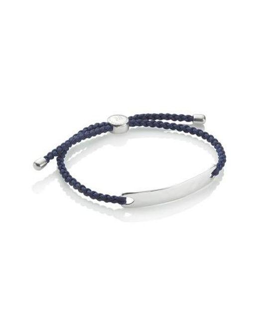 Monica Vinader - Blue Havana Friendship Bracelet - Lyst