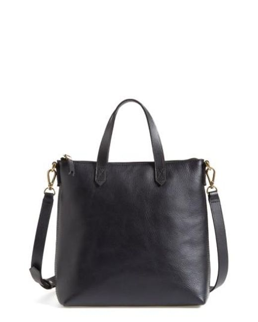 Madewell | Black The Transport Leather Crossbody Bag | Lyst