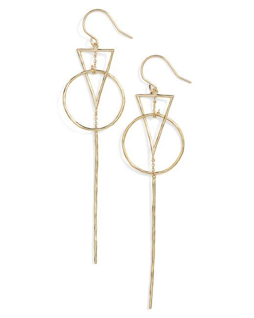 Gorjana - Metallic Triangle Drop Earrings - Lyst