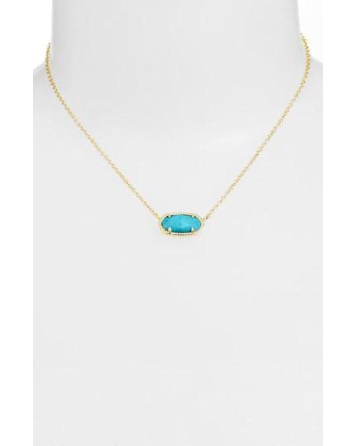 Kendra Scott   Metallic Elisa Pendant Necklace   Lyst