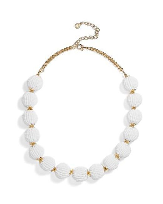 BaubleBar - White Crispin Necklace - Lyst