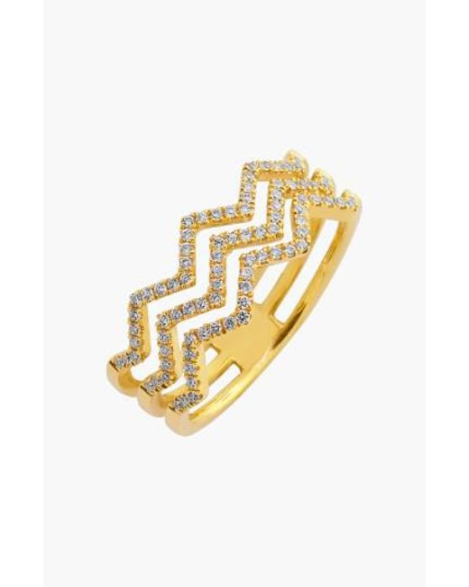 Bony Levy | Metallic 'prism' 3-row Diamond Ring (limited Edition) (nordstrom Exclusive) | Lyst