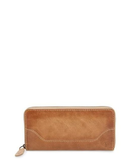Frye | Natural Melissa Leather Wallet | Lyst