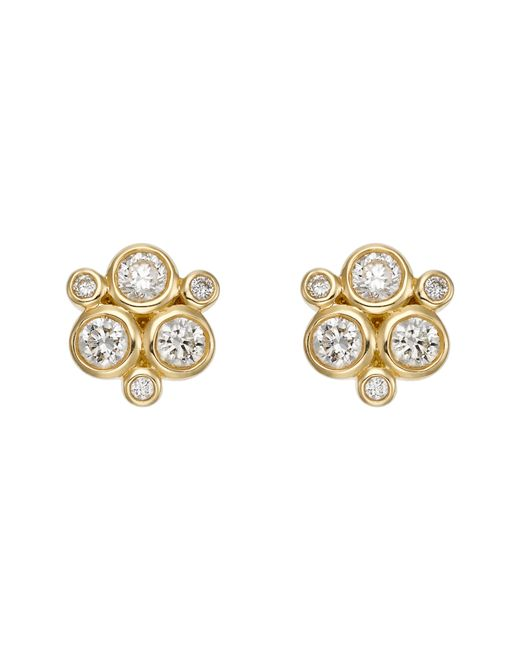 Temple St. Clair - Metallic 18k Yellow Gold Classic Trio Earrings With Diamonds - Lyst