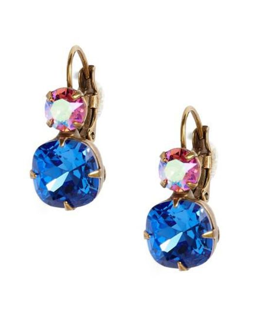 Sorrelli - Blue Roundabout Crystal Drop Earrings - Lyst