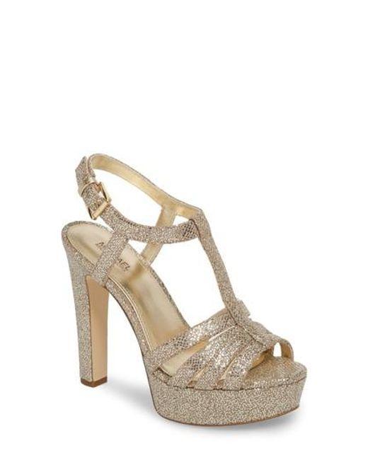 MICHAEL Michael Kors Catalina Glitter Slingback Platform Dress Sandals LQo3qq2T