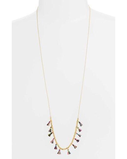 Gorjana - White Havana Tassel Adjustable Necklace - Lyst