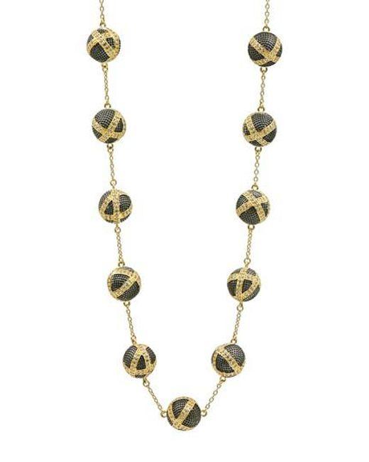 Freida Rothman | Metallic Textured Ornaments Collar Necklace | Lyst