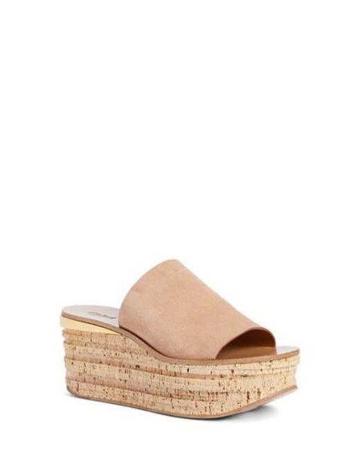 Chloé - Multicolor Camille Cork Platform Sandal - Lyst
