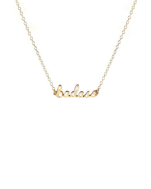 Kris Nations - Metallic Badass Script Necklace - Lyst