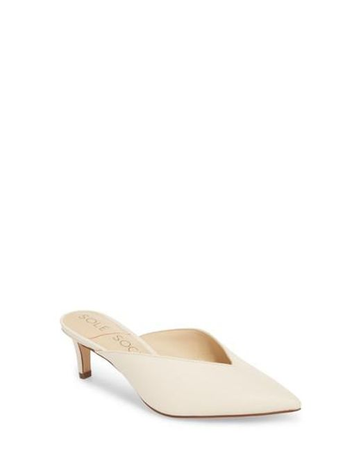 Sole Society - Natural Maleah Pointy Toe Mule - Lyst