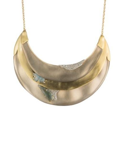 Alexis Bittar - White Roxbury Layered Bib Necklace - Lyst