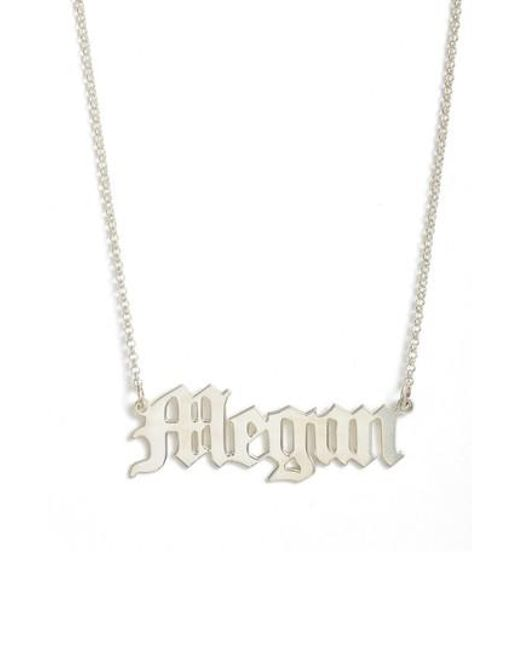 Argento Vivo - Metallic Personalized English Font Name Necklace - Lyst