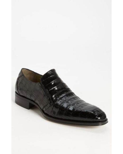 Mezlan - Black 'fiorello' Crocodile Loafer for Men - Lyst