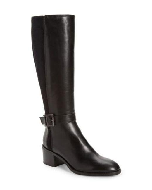 Aquatalia | Black Joanna Weatherproof Tall Boot | Lyst