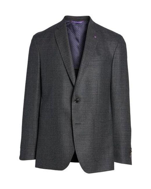 Ted Baker | Gray Endurance Trim Fit Wool Sport Coat for Men | Lyst