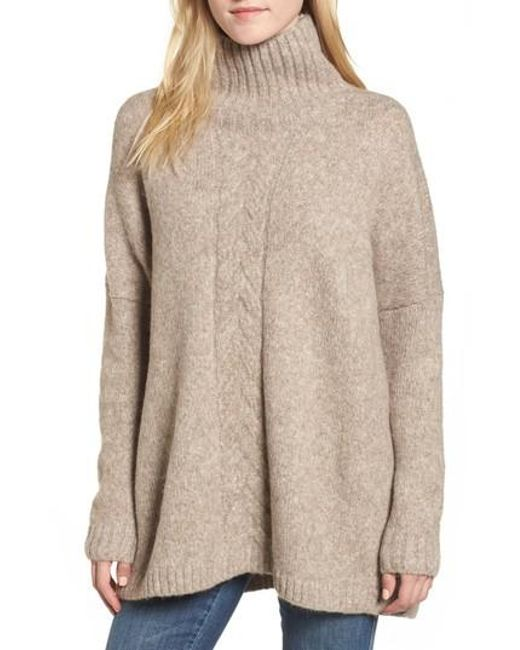 French connection Ora Mock Neck Sweater in Natural | Lyst