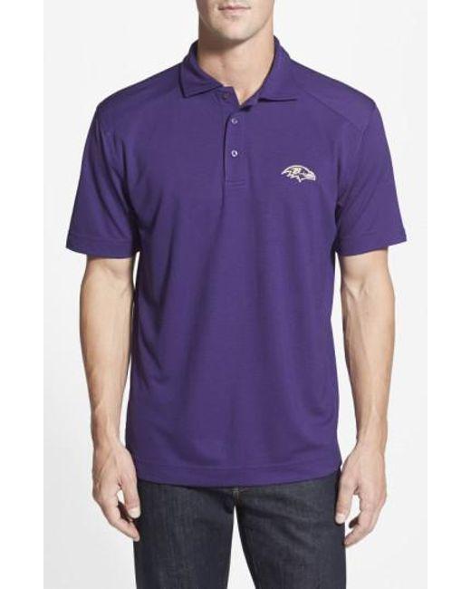 Cutter & Buck | Purple 'baltimore Ravens - Genre' Drytec Moisture Wicking Polo for Men | Lyst