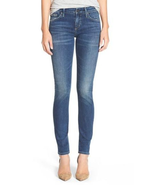 Citizens of Humanity | Blue 'arielle' Skinny Jeans | Lyst
